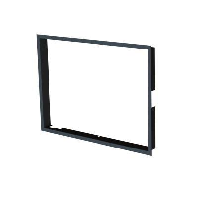 Frame 1x90° black  FIRE