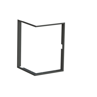 Frame 1x90° black BeF Tower 5 EH