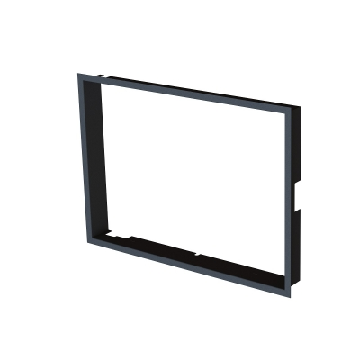 Frame 1x90° black BeF Aquatic WH (V) 80, (V) 85