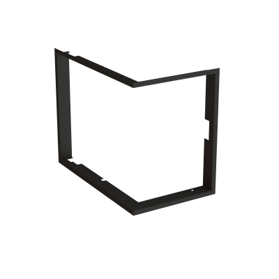 Frame 1x90° black BeF Feel corner