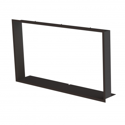 Frame 1x90°  black BeF Therm (V) 10