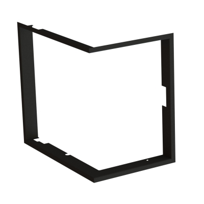 Frame 1x90° black BeF Therm (V) 6 CP/CL,