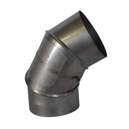 Koleno sčisticím otvorem  0-90° pr.180 mm