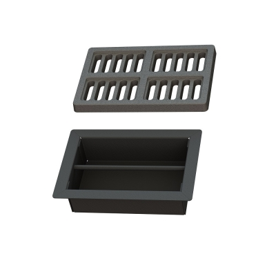 Grate 180 x 120mm + Ash tray