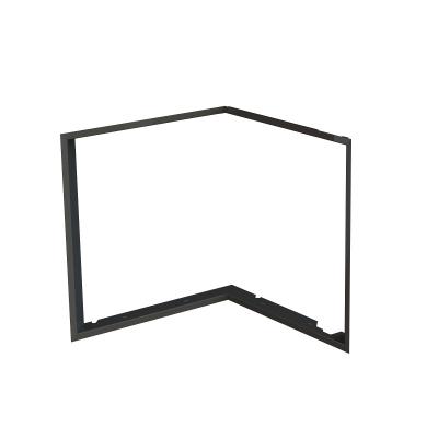 Zazdívací rámeček 1x90° černý BeF Flat 4 L