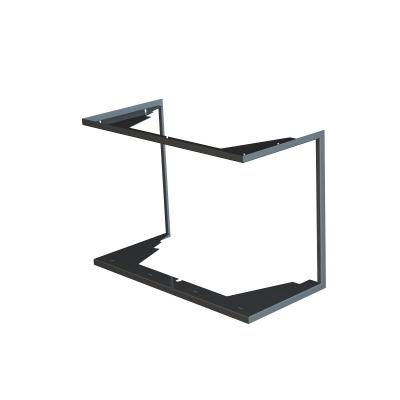 Zazdívací rámeček 1x90° černý BeF Flat 6 C