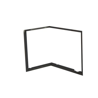 Zazdívací rámeček 1x90° černý BeF Flat 6 L