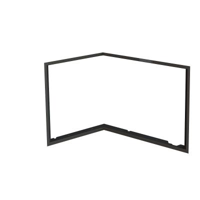 Zazdívací rámeček 1x90° černý BeF Flat 8 L