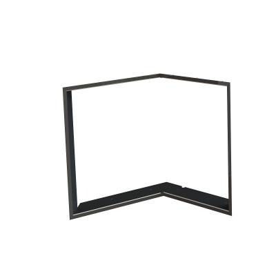 Zazdívací rámeček 1x90° černý BeF Flat V4 L