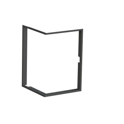 Zazdívací rámeček 1x90° černý BeF Tower 5 EH