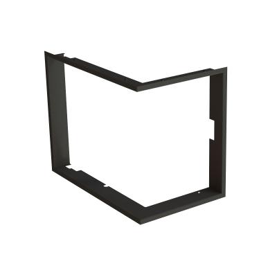 Zazdívací rámeček 1x90° černý BeF Aquatic WH (V) 60 CP/CL/, (V) 65 CP/CL/