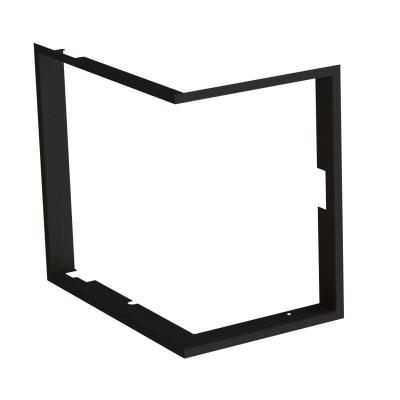 Frame 1x90°  depth 80mm, black BeF Therm (V) 6 PC/CL