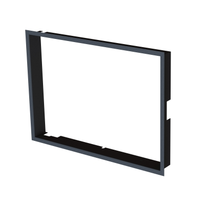 Frame 1x90° black BeF Therm (V) 7