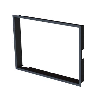Frame 1x90°  depth 80mm, black BeF Therm (V) 7