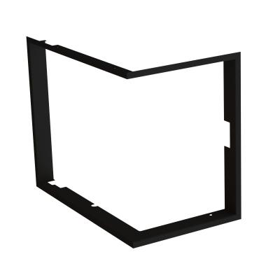 Frame 1x90°  depth 80mm, black BeF Therm (V) 7 CP/CL